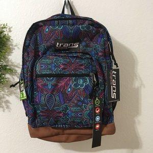 Jansport Trans Peacock Garden Print Backpack